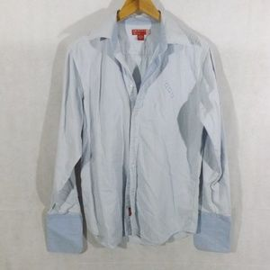 Mens GUESS Long Sleeve Button Down Shirt - Sz M